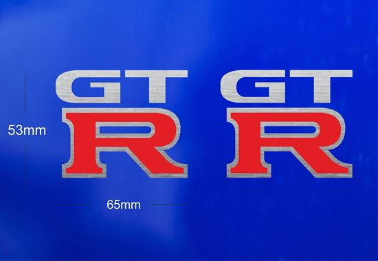 Picture of Nissan Skyline R32 /R33 / R34  GTR Badge replacement Brushed silver Decals  / Stickers