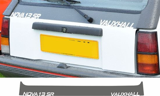 Picture of Vauxhall  Nova 1.3 SR replacement Hatch Decal / Sticker