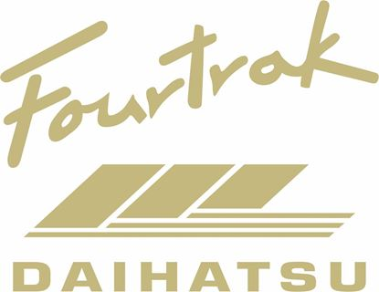 Picture of Daihatsu Fourtrak rear Wheel cover  Decal / Sticker