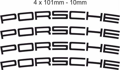 Picture of Porsche Brake Caliper 101mm Decals / Stickers