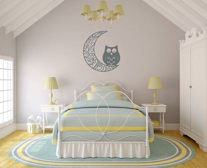 """Picture of """"Moon & Owl"""" Wall Art sticker"""