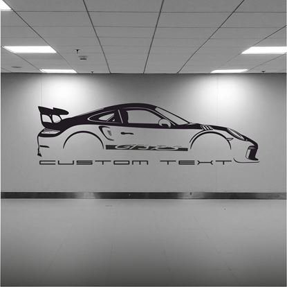 Picture of Porsche 911 GT3 RS  2018 silhouette  Wall Art sticker
