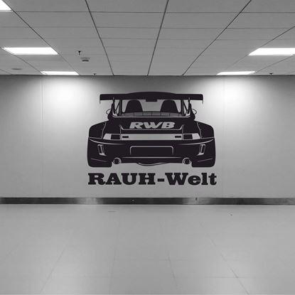 Picture of Porsche 993 Rauh Welt silhouette  Wall Art sticker