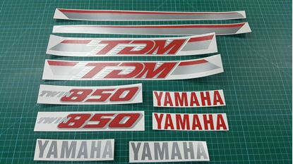 Picture of Yamaha TDM 850 1991 - 1995 replacement Decals / Stickers custom 2 colour