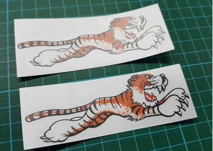 Picture of Triumph Running leaping Tiger  Decals / Stickers