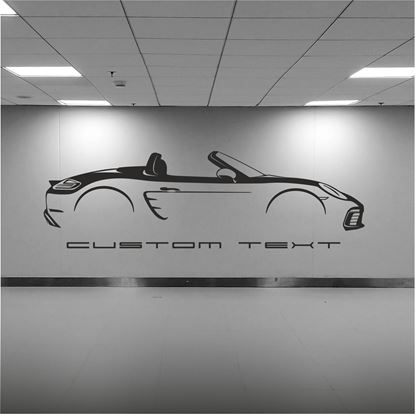 Picture of Porsche 718 Boxster  2018 silhouette  Wall Art sticker