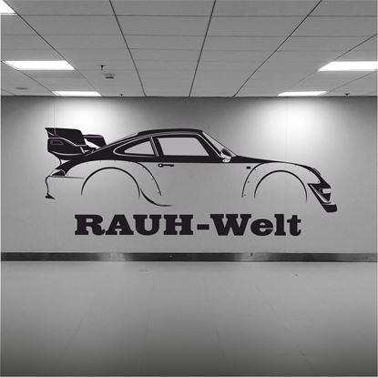 Picture of Porsche 993 Rauh - Welt silhouette  Wall Art sticker