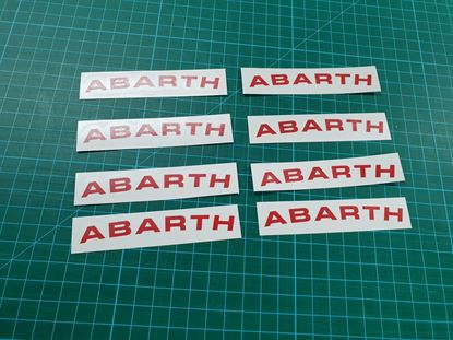 Picture of Fiat 500 / 595 Abarth  Wheel Rim Decals  / Stickers