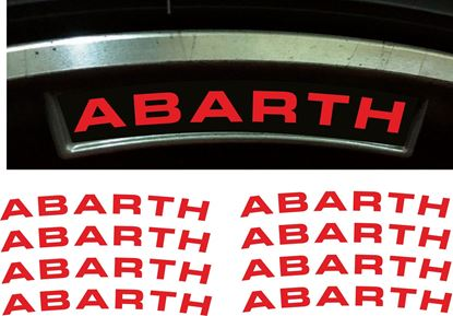 Picture of Fiat 500 / 595 Abarth OEM Wheel Rim Decals  / Stickers