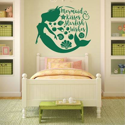 "Picture of ""Mermaid Kisses Starfish Wishes"" Wall Art sticker"