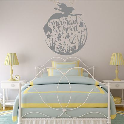 "Picture of ""Mermaid at Heart"" Wall Art sticker"