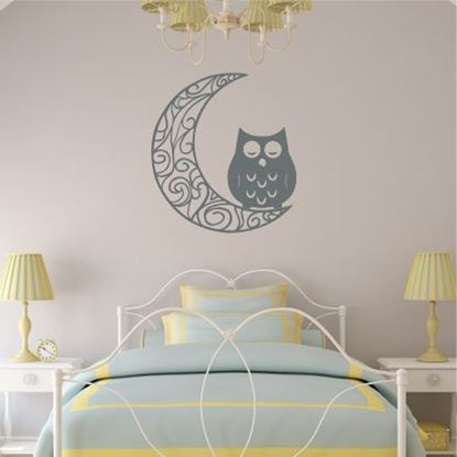 "Picture of ""Moon & Owl"" Wall Art sticker"
