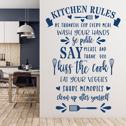 "Picture of ""Kitchen Rules""  Wall Art sticker"