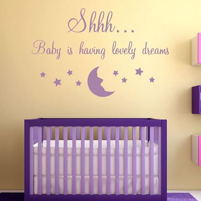 "Picture of ""Shhhh Baby..."" Wall Art sticker"
