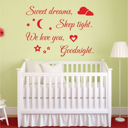 "Picture of ""Sweet Dreams..."" Wall Art sticker"