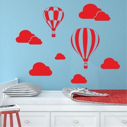 "Picture of ""Air Balloons ans Clouds"" Wall Art sticker"