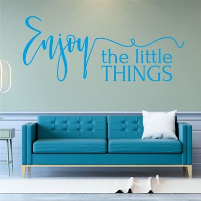 "Picture of ""Enjoy the little things""  Wall Art sticker"