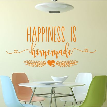 "Picture of ""Happiness is Homemade""  Wall Art sticker"