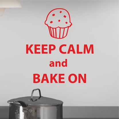 "Picture of ""Keep Calm and Bake on""  Wall Art sticker"