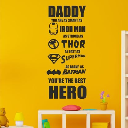"Picture of ""Daddy Hero""  Wall Art sticker"