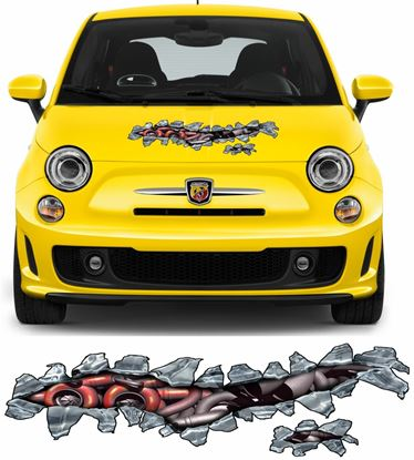 Picture of Fiat 500 / 595 Abarth Turbo Bonnet Tear Sticker