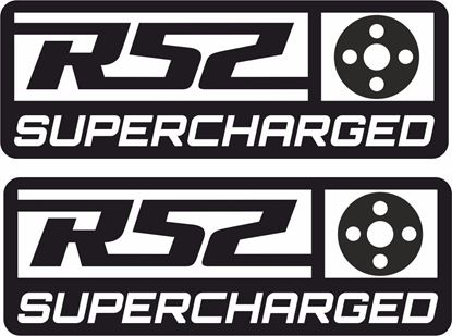 "Picture of Mini  ""R52 Supercharged"" pulley Decals / Stickers"