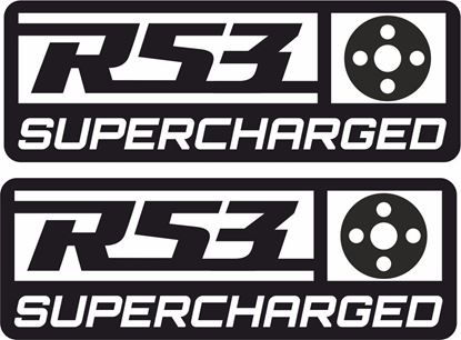 "Picture of Mini  ""R53 Supercharged"" pulley Decals / Stickers"