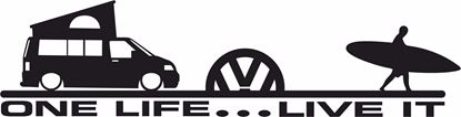 "Picture of VW Camper T5 ""One Life Live it"" Decal / Sticker"