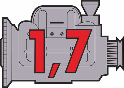 "Picture of Porsche 914 ""1,7"" Engine general panel Decals /  Sticker"