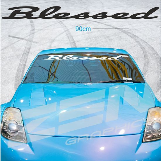 """Picture of """"Blessed"""" Screen Decals / Sticker"""