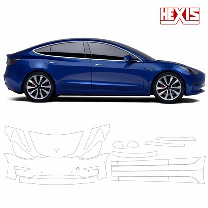 Picture of Tesla model 3 2018 Pre Cut PPF front & Side kit