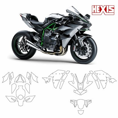 Picture of Kawasaki Ninja H2 2015 Pre Cut PPF Full Kit