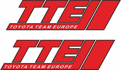 "Picture of Toyota ""TTE""  Decals / Stickers"