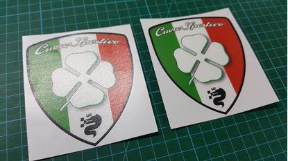 "Picture of Alfa Romeo ""Cuore Sportio"" Wing  Decals / Stickers"
