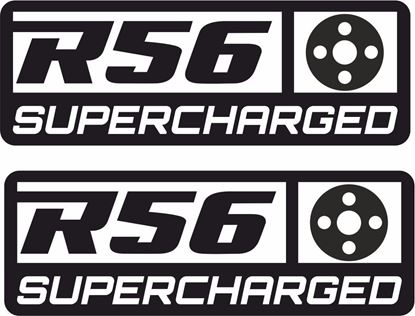 "Picture of Mini  ""R56 Supercharged"" Pulley Decals / Stickers"