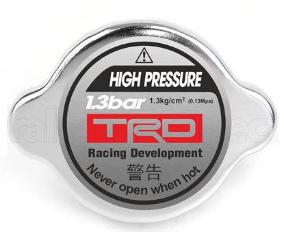 "Picture of Toyota ""High Pressure... Radiator cap Decal / Sticker"