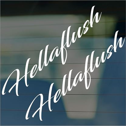 "Picture of JDM ""Hellaflush""  Glass / Panel Decals / Stickers"