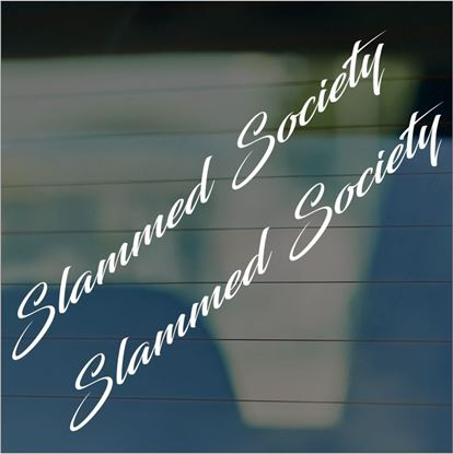 "Picture of JDM ""Slammed Society""  Glass / Panel Decals / Stickers"
