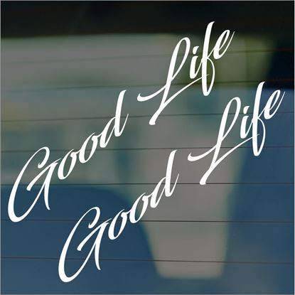 "Picture of JDM ""Good Life""  Glass / Panel Decals / Stickers"