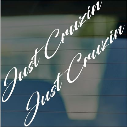 "Picture of JDM ""Just Cruizin""  Glass / Panel Decals / Stickers"