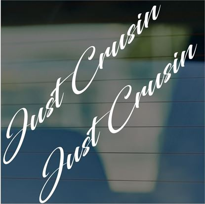 "Picture of JDM ""Just crusin""  Glass / Panel Decals / Stickers"