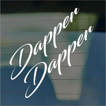 "Picture of JDM ""Dapper""  Glass / Panel Decals / Stickers"