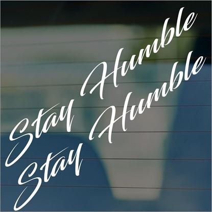 "Picture of JDM ""Stay Humble""  Glass / Panel Decals / Stickers"