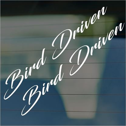 "Picture of JDM ""Bird Driven  Glass / Panel Decals / Stickers"