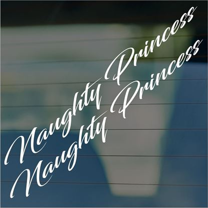 "Picture of JDM ""Naughty Princess"" Glass / Panel Decals / Stickers"