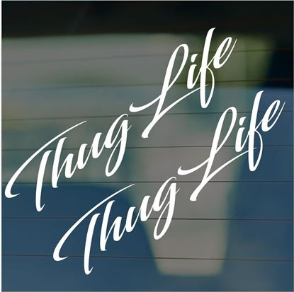 "Picture of JDM ""Thug Life""  Glass / Panel Decals / Stickers"