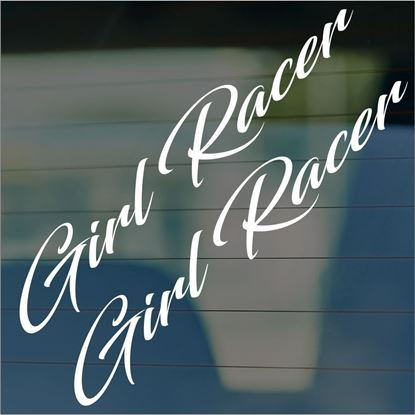 "Picture of JDM ""Girl racer""  Glass / Panel Decals / Stickers"