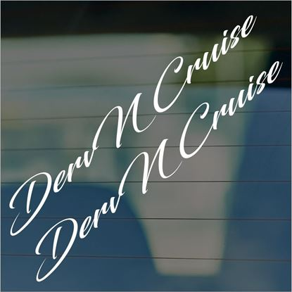 "Picture of JDM ""Derv & Cruise""   Glass / Panel Decals / Stickers"