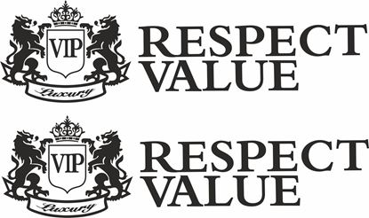 """Picture of """"VIP Luxury Respect Value"""" JDM Hand Decals / Stickers"""