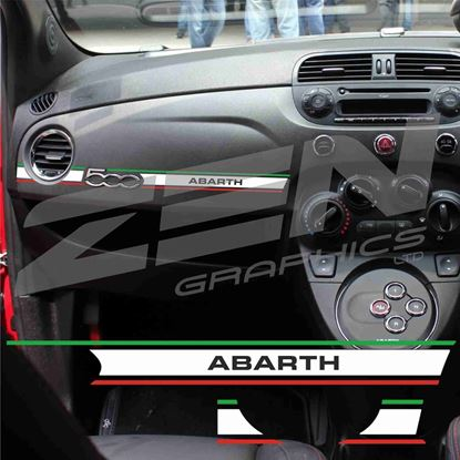 Picture of Fiat 500 / 595 Abarth  Italian interior Dash Stripe  / Sticker